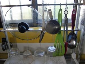 キッチンツールハンガー実用例